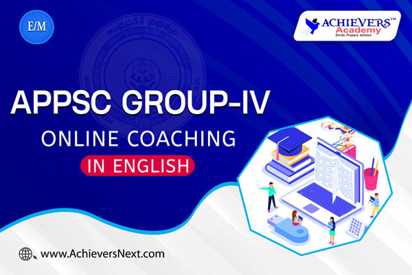 APPSC Group 4 Online Classes in English Medium cover
