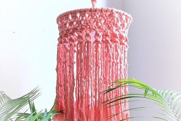DIY Macrame Lamp Hanging cover