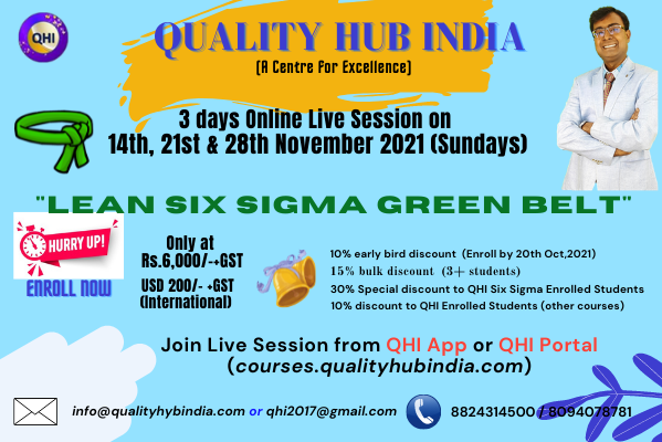 Live Session -Lean Six Sigma Green Belt Course with Mr. Aryan Viswakarma cover