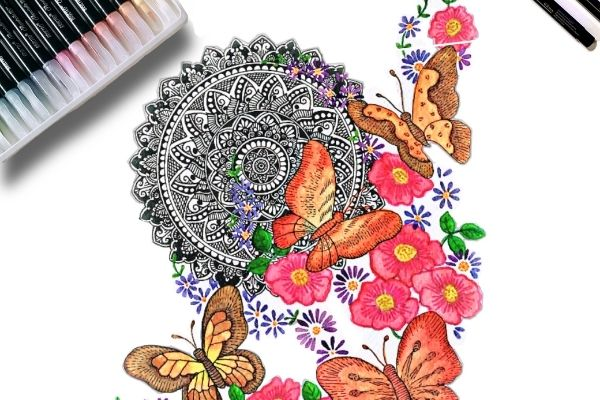 Floral Butterfly Mandala Making cover