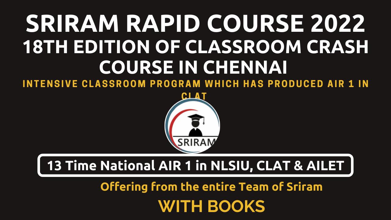 Sriram Rapid Course (Crash Course+) with Books cover