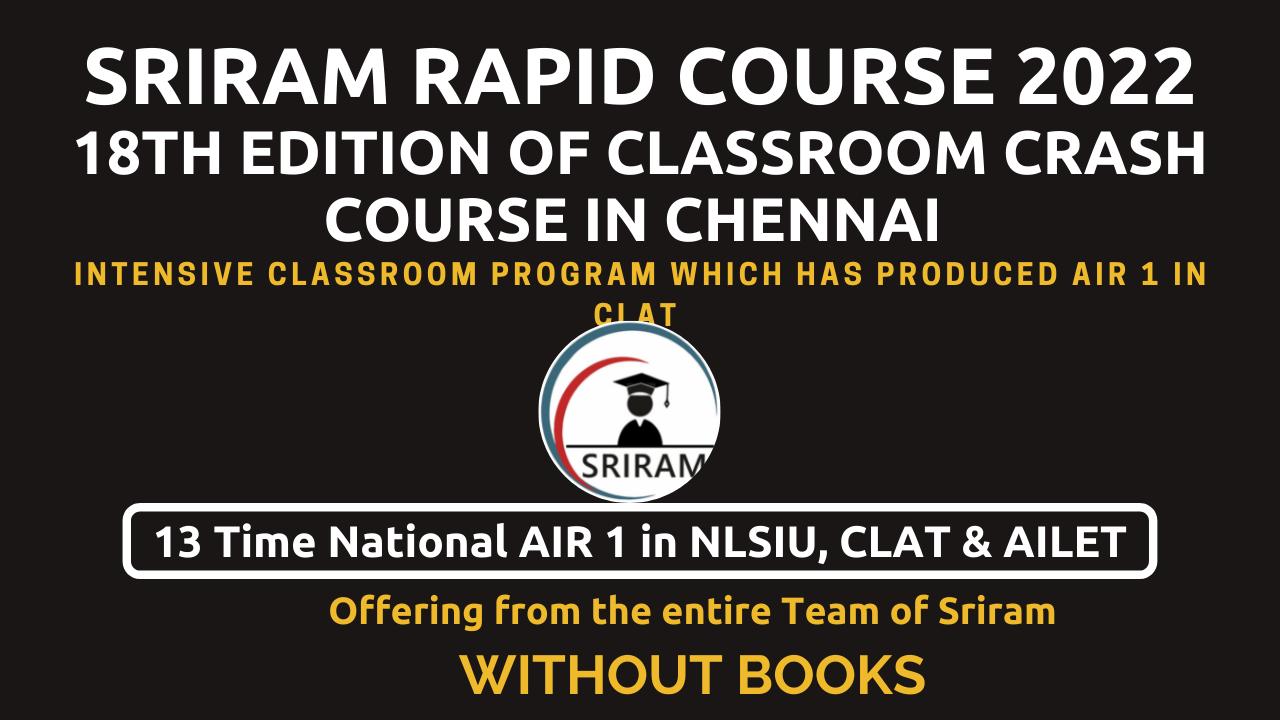 Sriram Rapid Course (Crash Course+) without Books cover