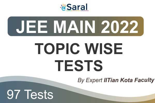 JEE Main Topicwise Test Series 2022 cover
