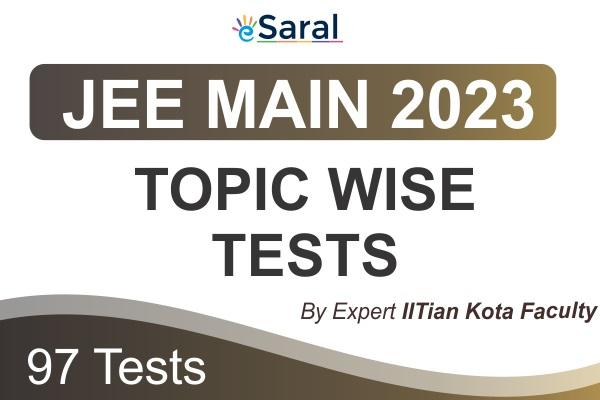 JEE Main Topicwise Test Series 2023 cover