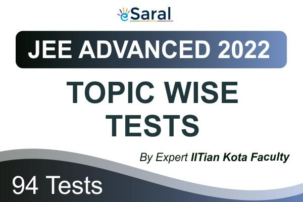 JEE Advanced Topicwise Test Series 2022 cover