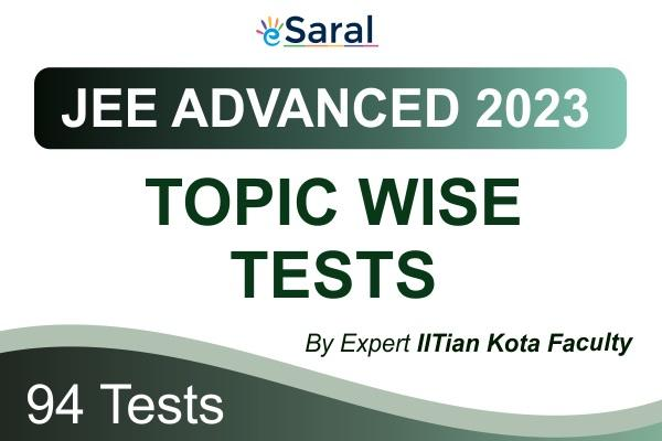 JEE Advanced Topicwise Test Series 2023 cover