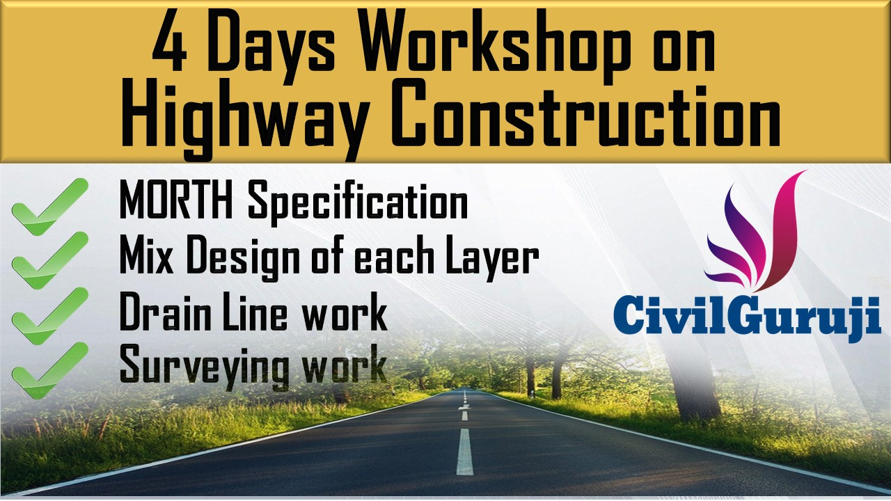 4 Days Workshop On Highway Construction cover