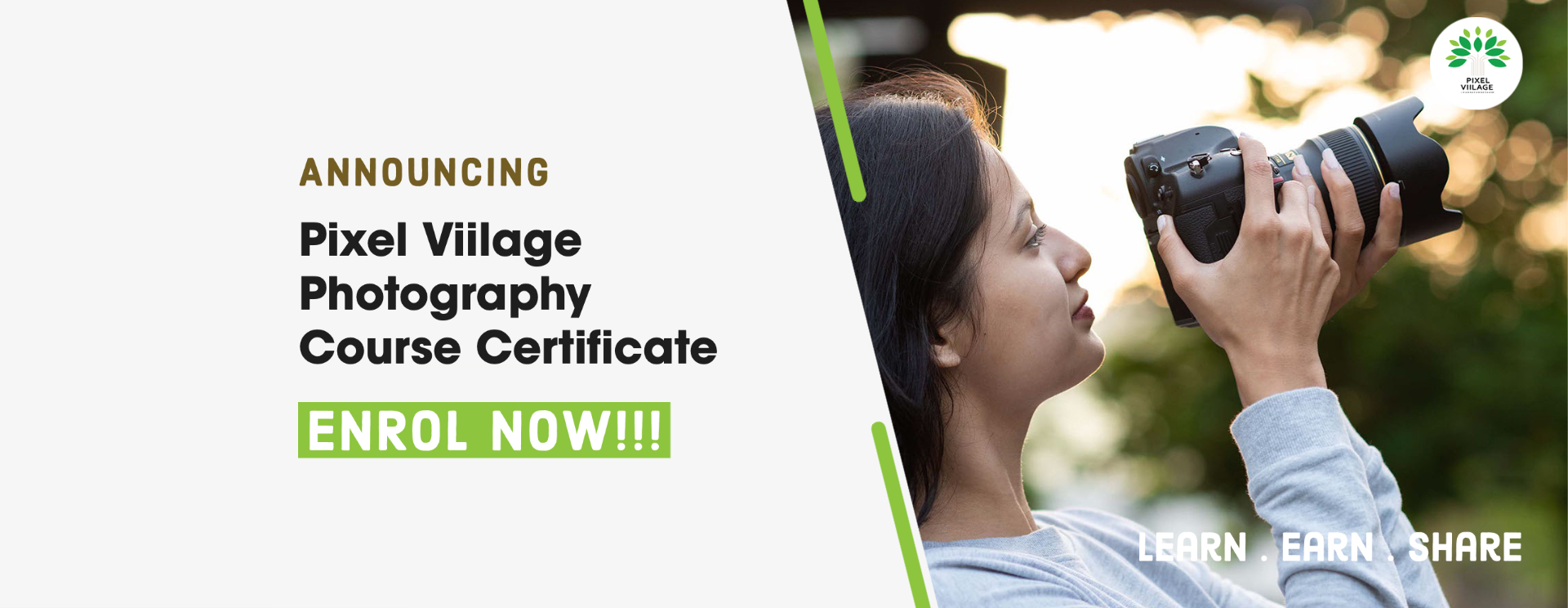 Pixel Viilage Online Photography Course Certificate