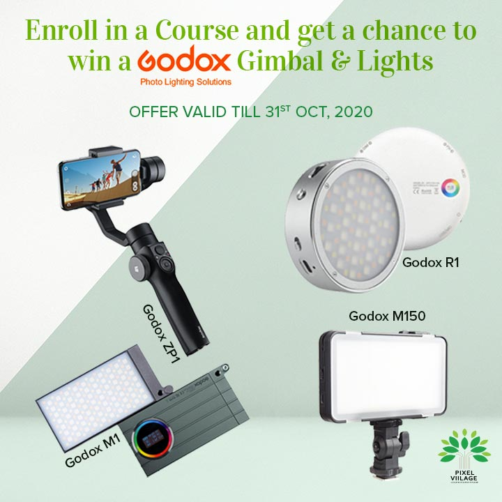 Enroll in a Course and get a chance to win a Godox Gimbal & Lights