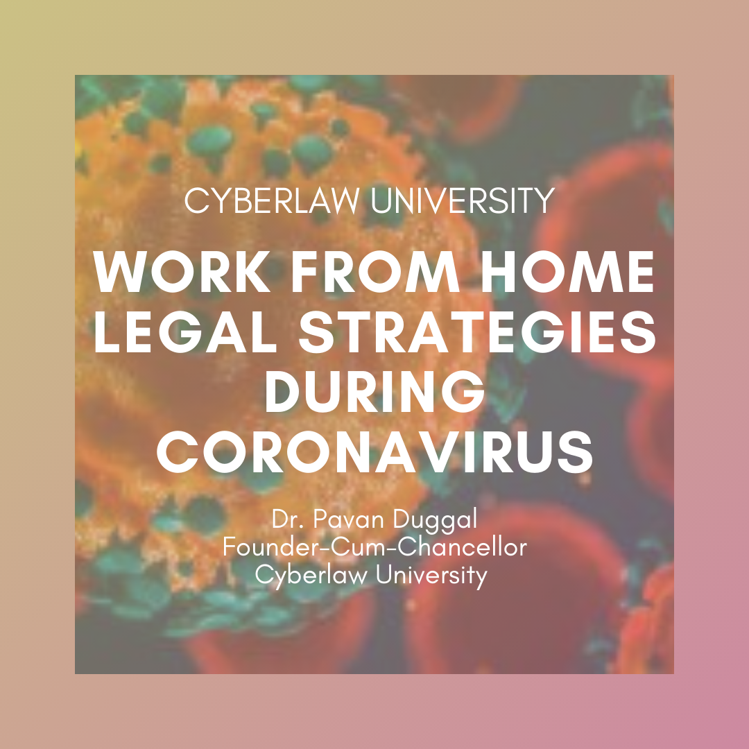 WORK FROM HOME LEGAL STRATEGIES DURING CORONAVIRUS