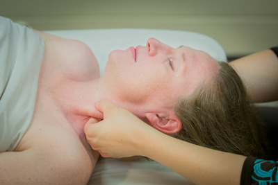 SCM massage to ease neck tension and headache