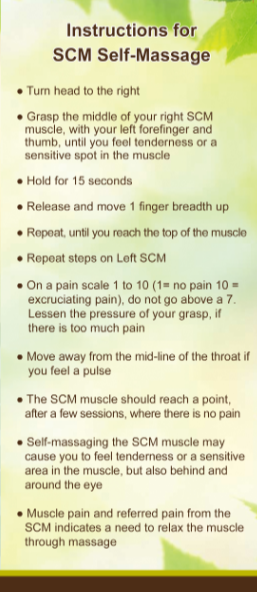 Instructions to relieve a headache at home through self massage